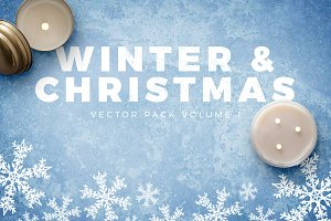 Winter and Christmas Vectors Vol 1