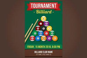 Billiard poster