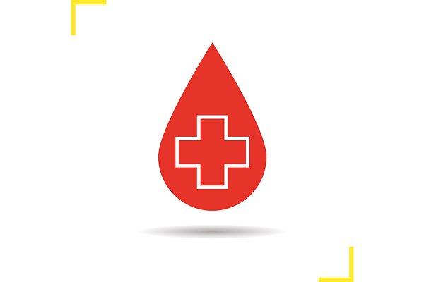 Blood drop icon. Vector