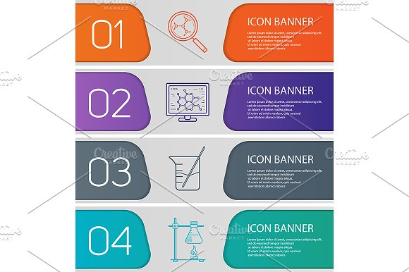 Laboratory banners. Vector - Product Mockups