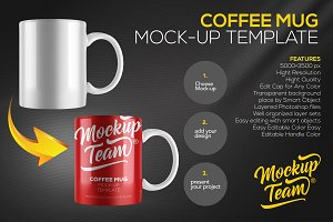 Coffee Mug Mock Up Template