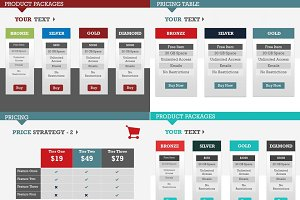 Pricing Tables - PowerPoint