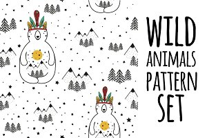 13 nature and animals pattern set