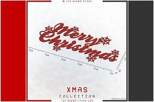 Flat Ornament - #03 Merry Christmas