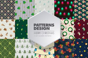 15 CHRISTMAS PATTERNS DESIGN SET
