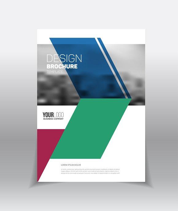 Brochure Template Brochure Templates Creative Market - Template for a brochure