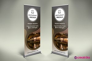 Restaurant Roll Up Banner - v042