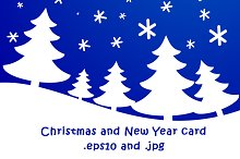 Christmas and New Year winter card