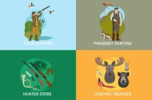 Animals hunting concepts