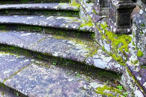 Old stony staircase.