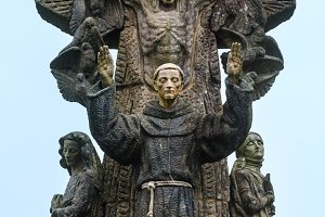 Francis of Assisi sculpture,