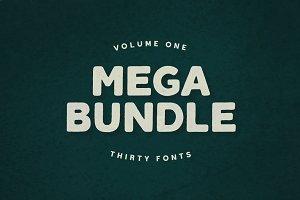 Mega Bundle Vol. 1 | 30 Fonts
