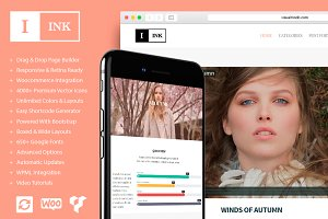 Ink Minimalist Blog WordPress Theme
