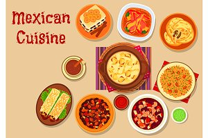 Mexican cuisine restaurant menu