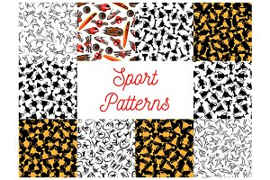 Sport seamless patterns