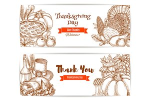 Thanksgiving greeting banners