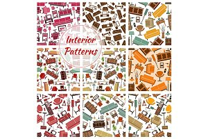 Home interior and furniture patterns