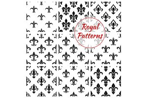 Royal fleur-de-lis seamless patterns