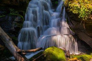 Waterfalls in Carpathian Mountains