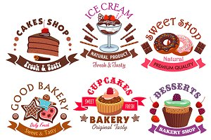Desserts and pastry icons