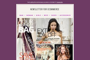 Fashion Ecommerce Newsletter PSD - 2