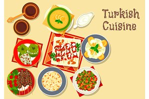 Turkish cuisine menu dishes