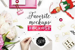 Styled photos. Mockups package.