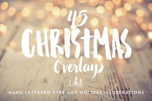 Hand Lettered Christmas Overlays