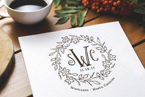 Storybook Fairytale Wedding Monogram