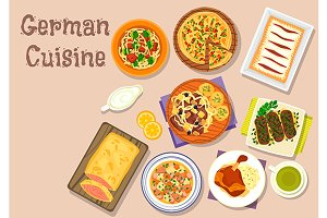 German cuisine lunch dishes