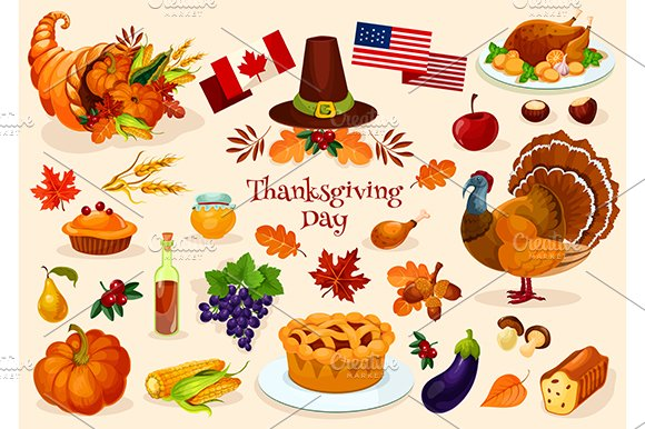 Thanksgiving day objects