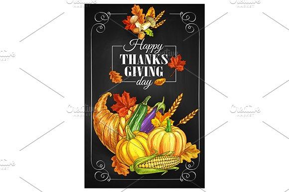 Thanksgiving Day greeting banner