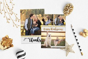 Thanksgiving Card | Gld Embroidery