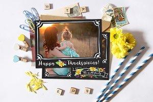 Thanksgiving Card   Chalk Frames