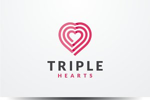 Triple Hearts Logo