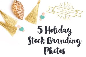 Gold & Mint Holiday Brand Photos