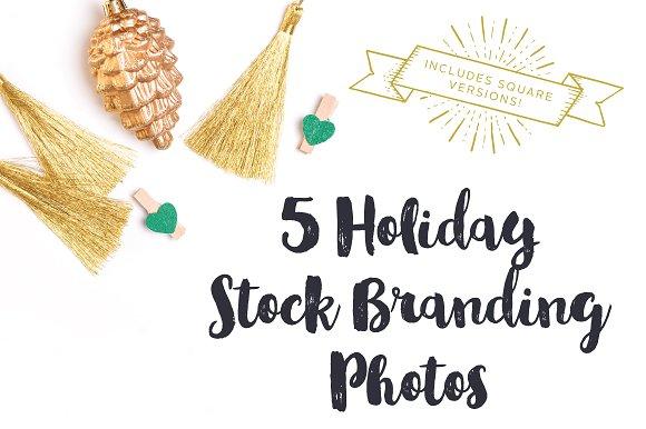 Gold & Green Holiday Brand Photos