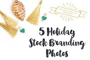 Gold & Green Holiday Brand Photos