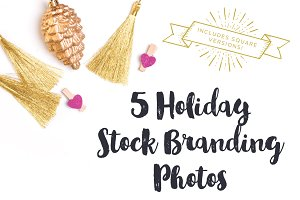 Gold & Pink Holiday Brand Photos