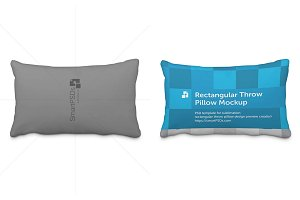 Rectangular Throw Pillow Design