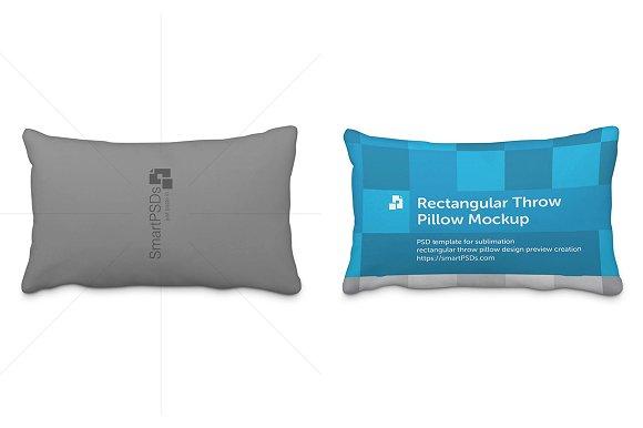 Rectangular Throw Pillow Design