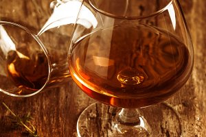 Glass of brandy or cognac