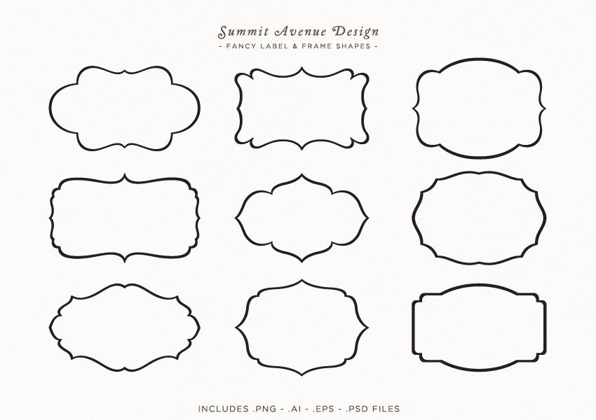 Fancy Frames & Label Shapes ~ Graphic Objects ~ Creative Market