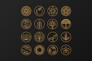 Outline organic emblems