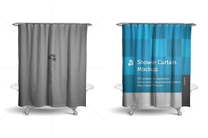 Shower Curtain Mockup Preview Design