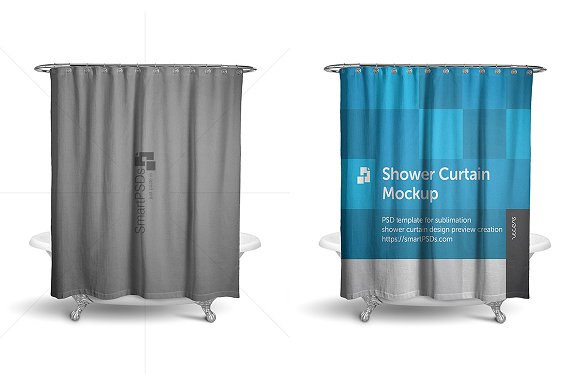 Download Shower Curtain Mockup Preview Design