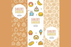 Bakery Banner Flyer Set