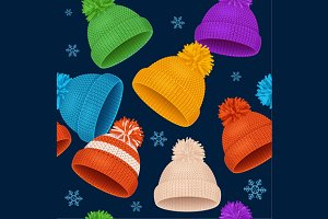 Knitted Hat Winter Background