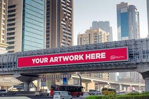 Dubai bridge banner mockup