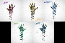 Futuristic model of hand dna